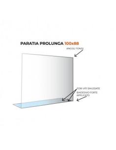 Paratia prolunga formato 100x88 cm policarbonato trasparente 05N01935405650